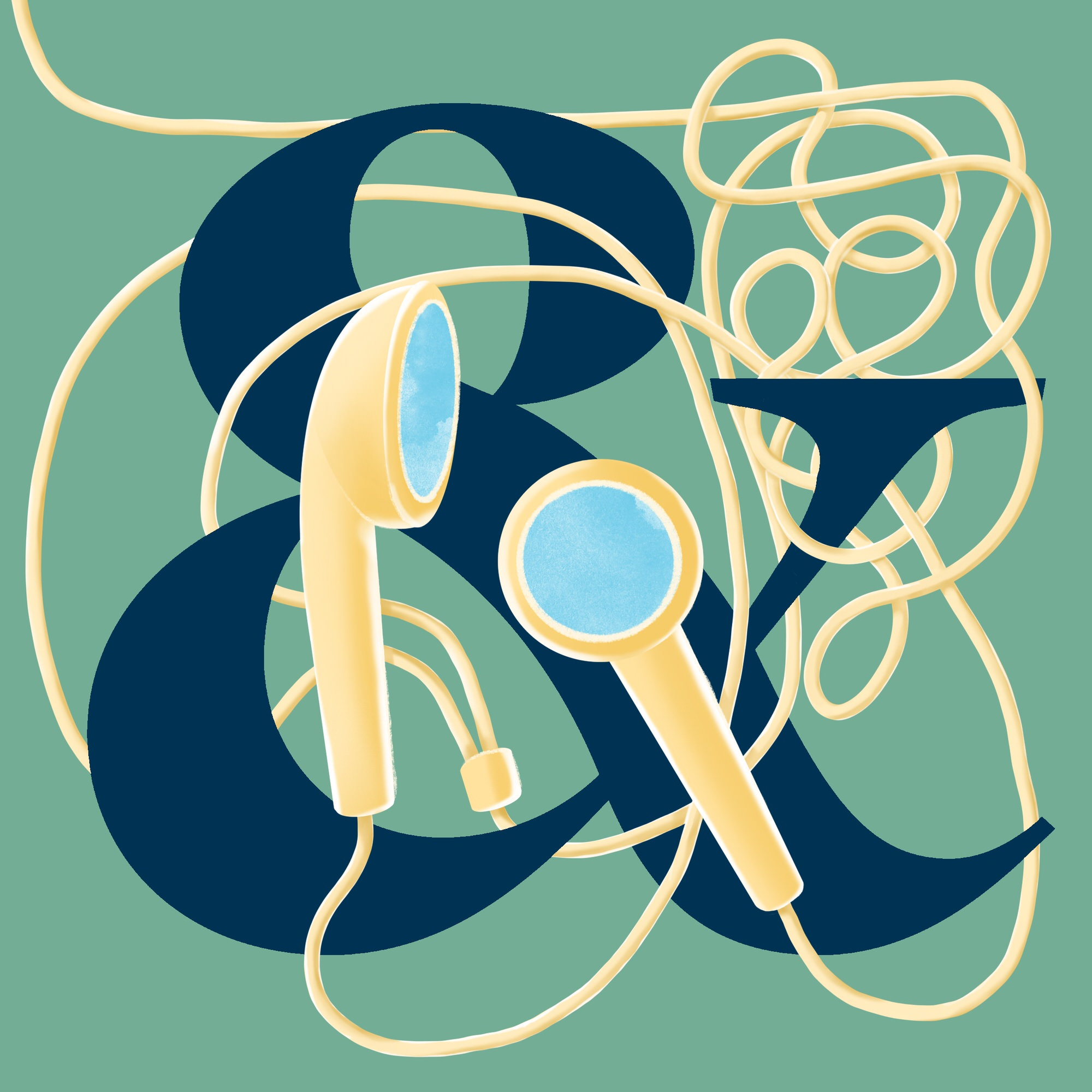 Podcast Icon including a letter   Artwork and design by Ida Henrich