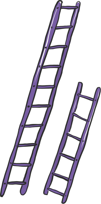 A vector illustration of some ladders for Project 2035 | Illustration and Art Direction by Ida Henrich