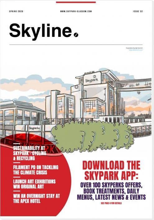 Skyline Magazine from Skypark | Illustration by Ida Henrich Design by Skypark team