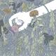 Handing picking up snail from a busy green garden. | By Ida Henrich