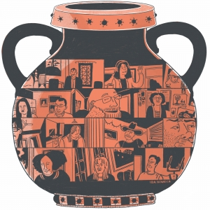 The Covid-19 pot in the style of ancient greek red figure pottery | ©Ida Henrich | May '20